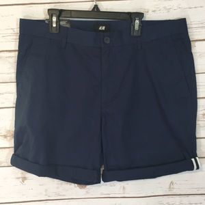 H&M Navy Slim Fit Shorts NWT